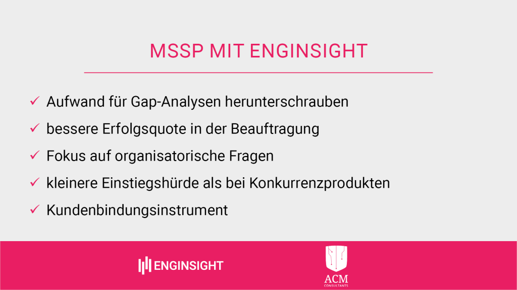 MSSP Vorteile mit Enginsight