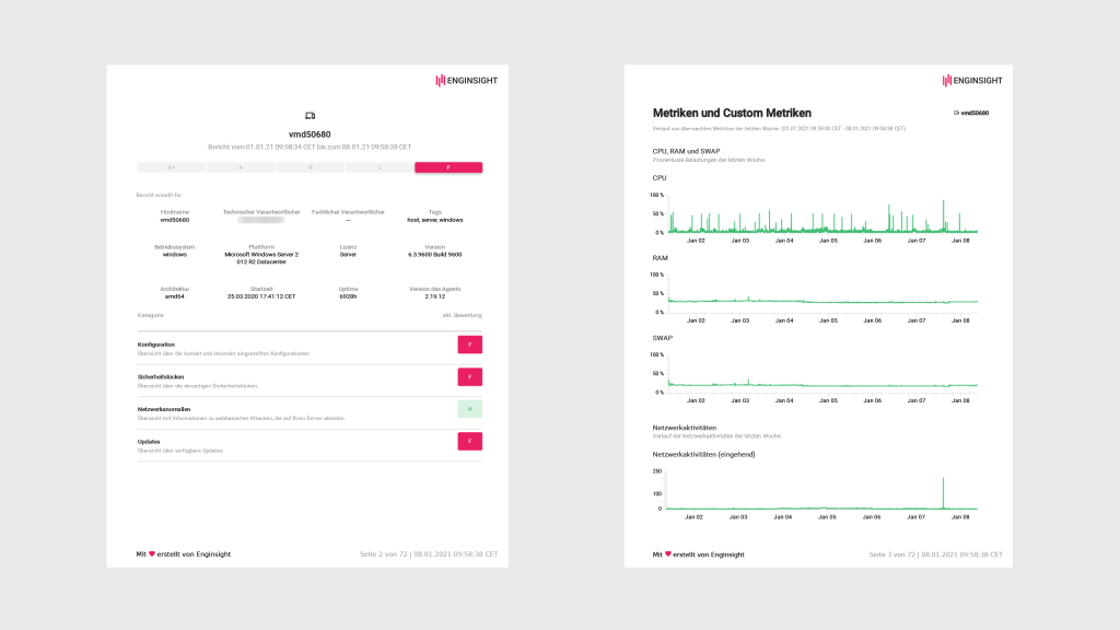 PDF Berichte Server Monitoring