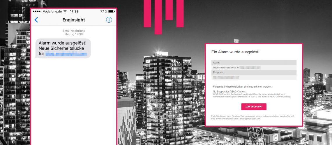 Titelbild neue Features im Monitoring, Alarmfunktion IT-Sicherheit