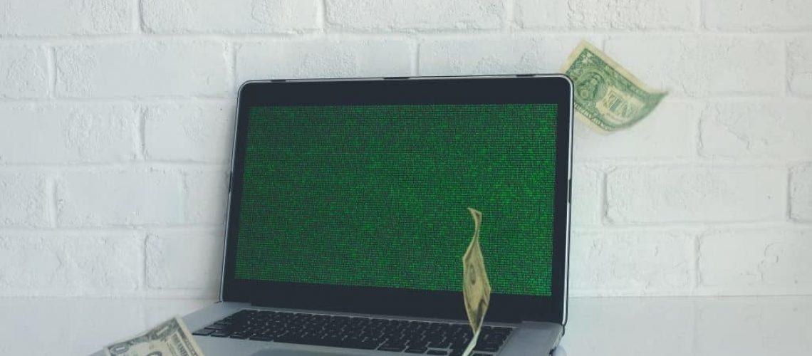 Ein gehackter PC mit Ransomware infiziert